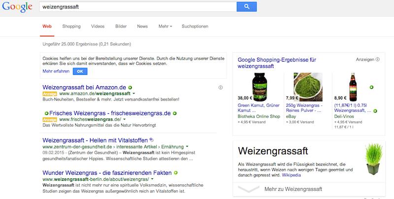 Sucherfolg bei Google